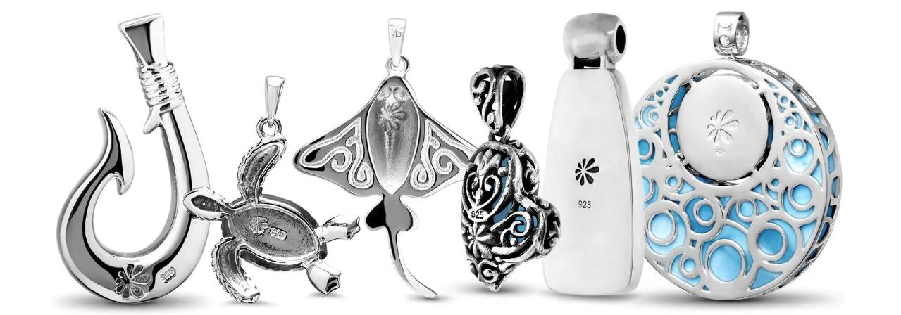 In the sterling silver is stamped the Marahlago Signature flower, proof of the high quality jewelry.