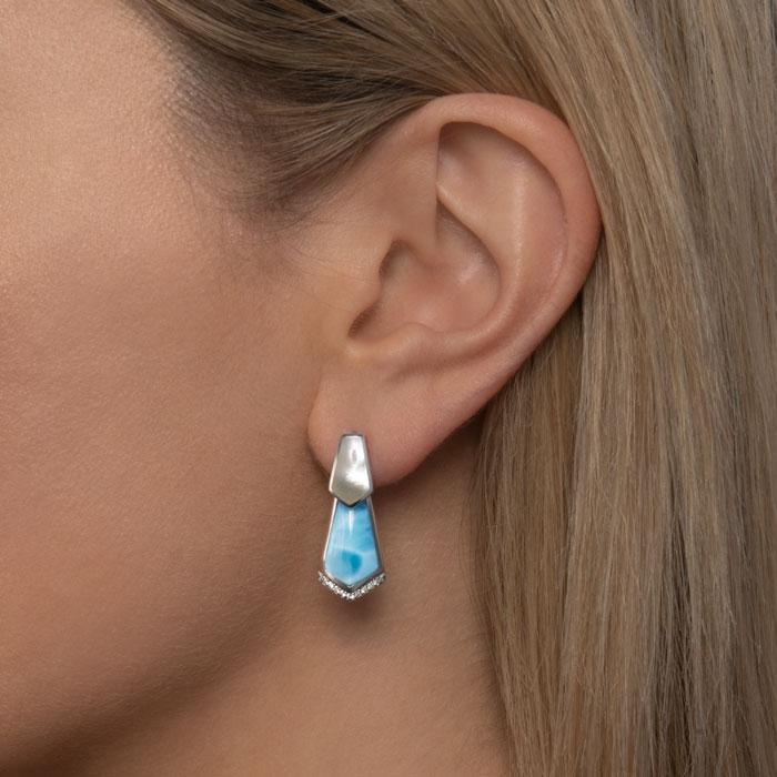 Calder Larimar Earrings
