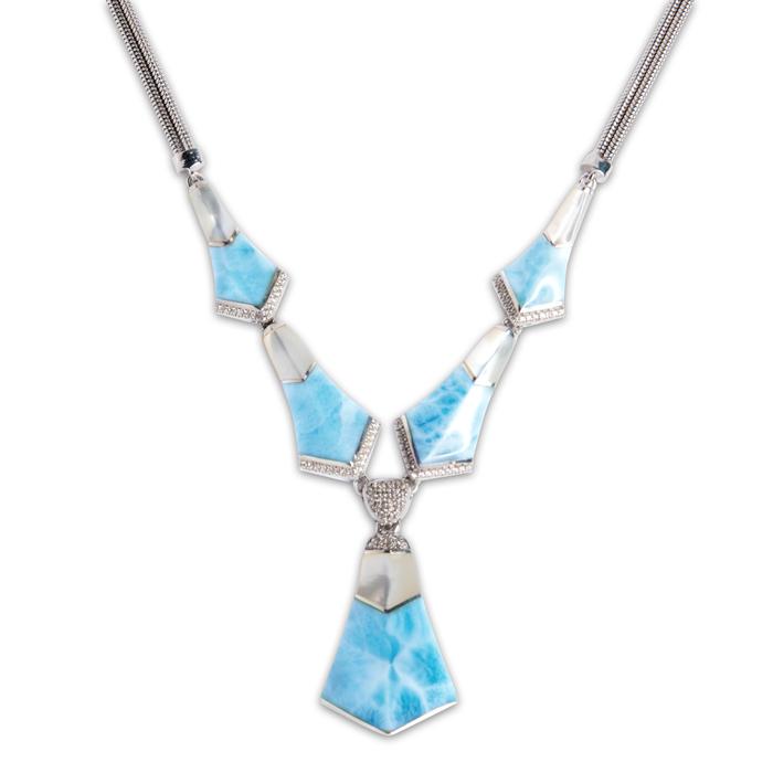 Calder Large Larimar Necklace