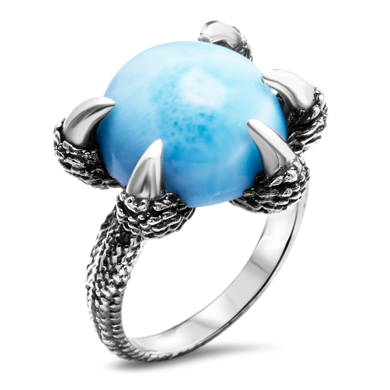 Dragon Larimar Ring