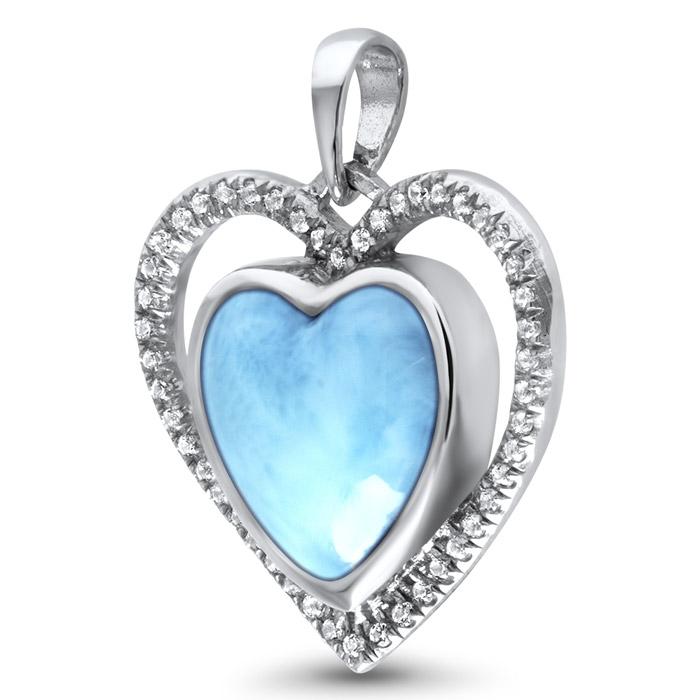 Infinity Heart Larimar Necklace