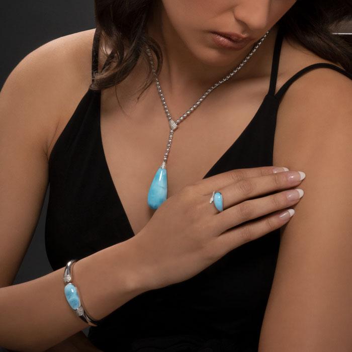 Lucia Larimar Bracelet