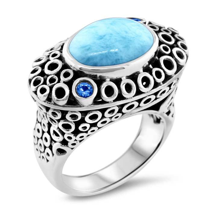marahlago  Imani Larimar Ring