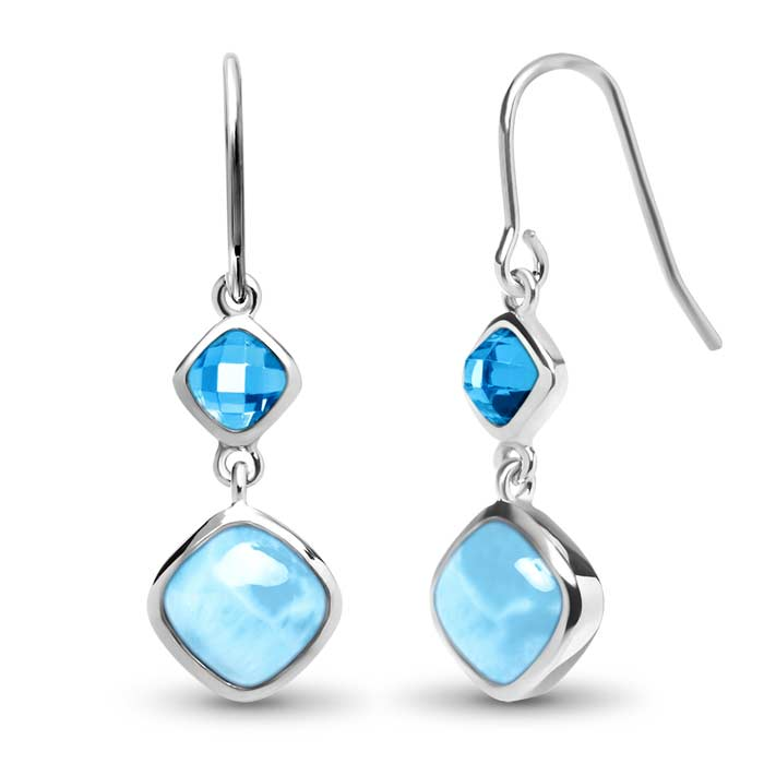 Marahlago Square Atlantic Cushion Larimar Earrings