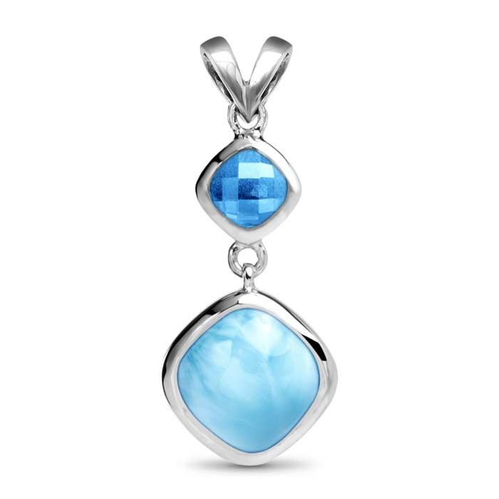 Atlantic cushion larimar necklace marahlago designer larimar jewelry aloadofball Image collections