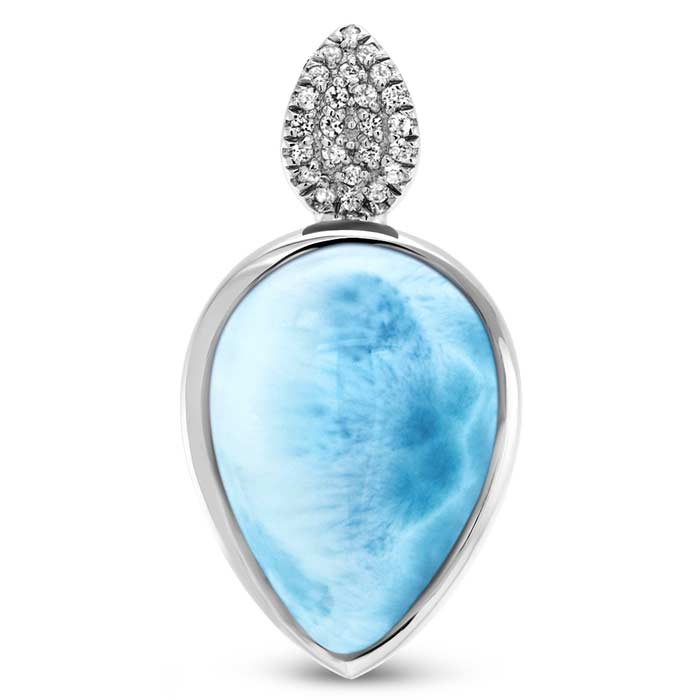 Bliss Pear Larimar Necklace