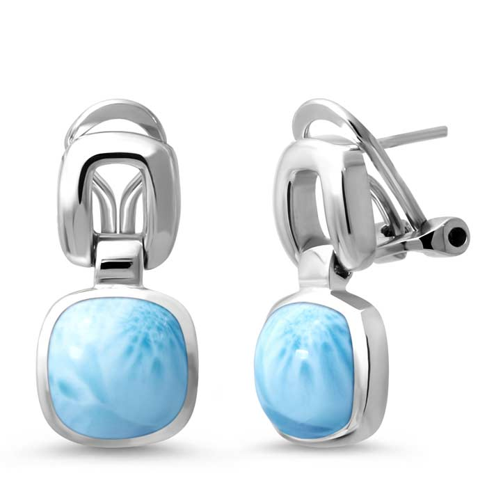 Marahlago Square Del Mar Larimar Earrings