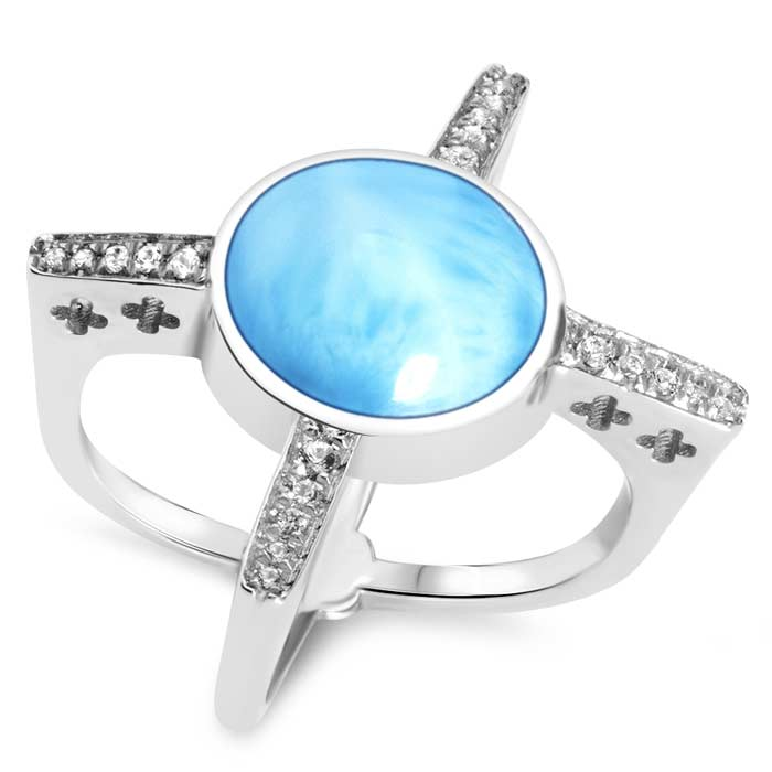 Destiny Larimar Ring