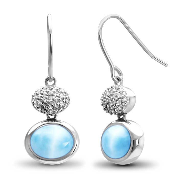 Marahlago Oval Eclipse Larimar Earrings