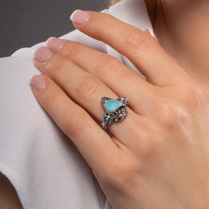 Haven Larimar Ring