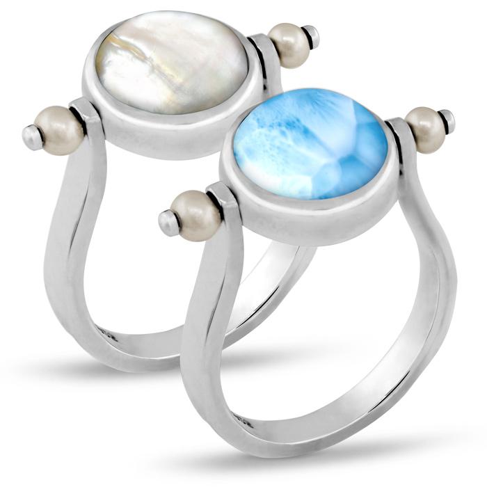 Hideaway Pearl Larimar Ring
