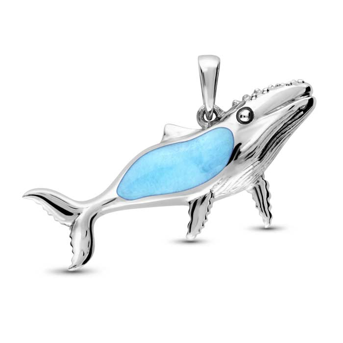 Humpback Whale Larimar Necklace