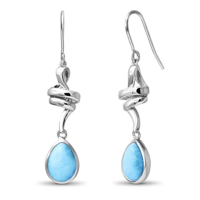 Marahlago Pear Hydra Larimar Earrings