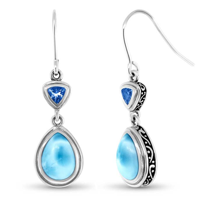 Marahlago Pear Ilona Larimar Earrings