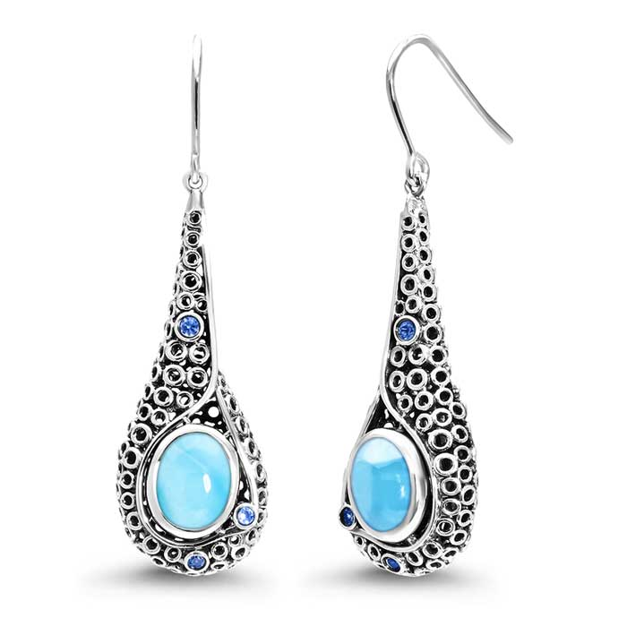 Imani Larimar Earrings
