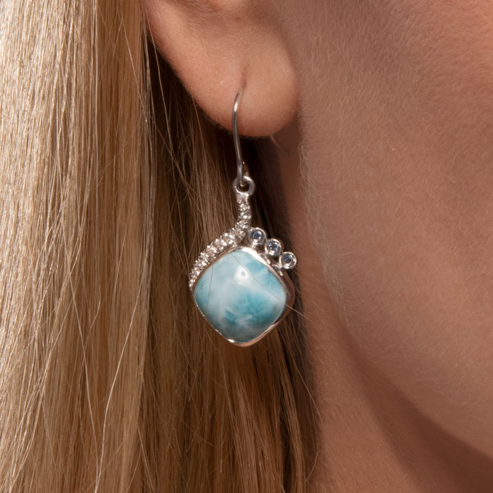 Aurora Larimar Earrings