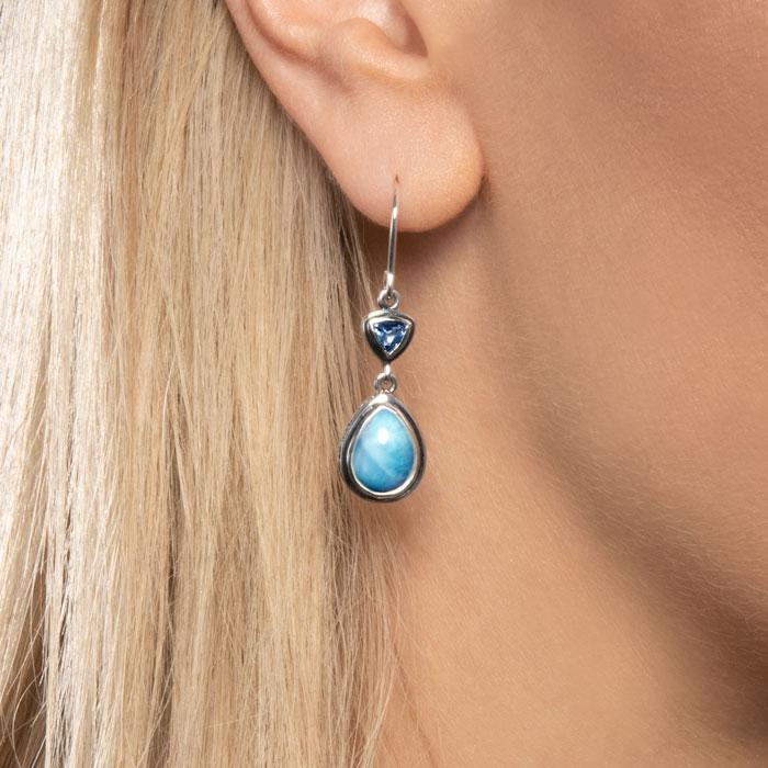 Ilona Larimar Earrings