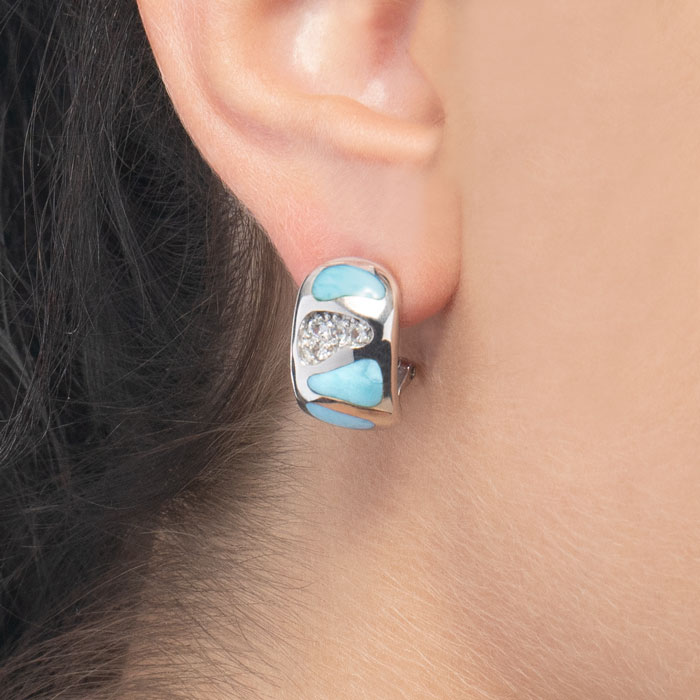 Surf Larimar Earrings