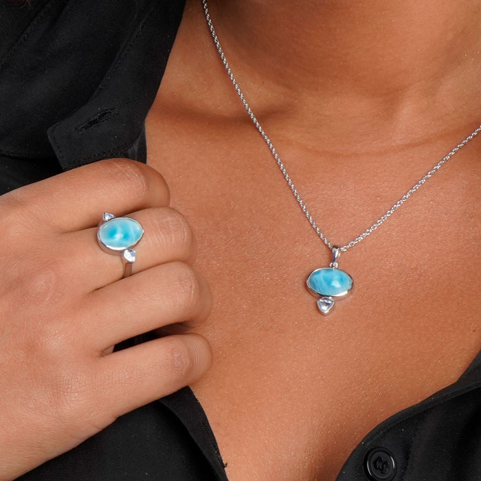 Naples Larimar Necklace