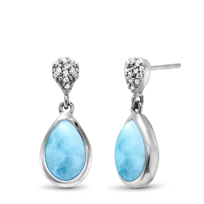 Marahlago Pear Liberty Larimar Earrings
