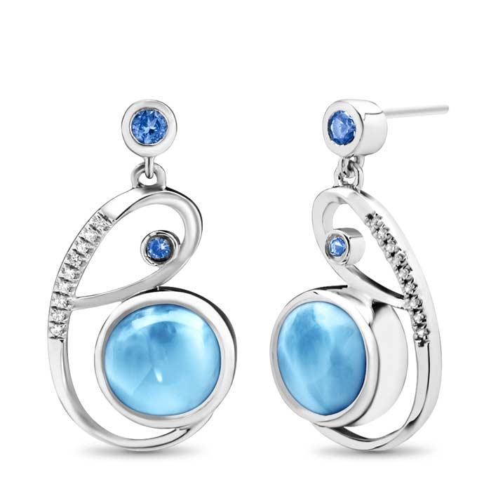 Mia Larimar Earrings
