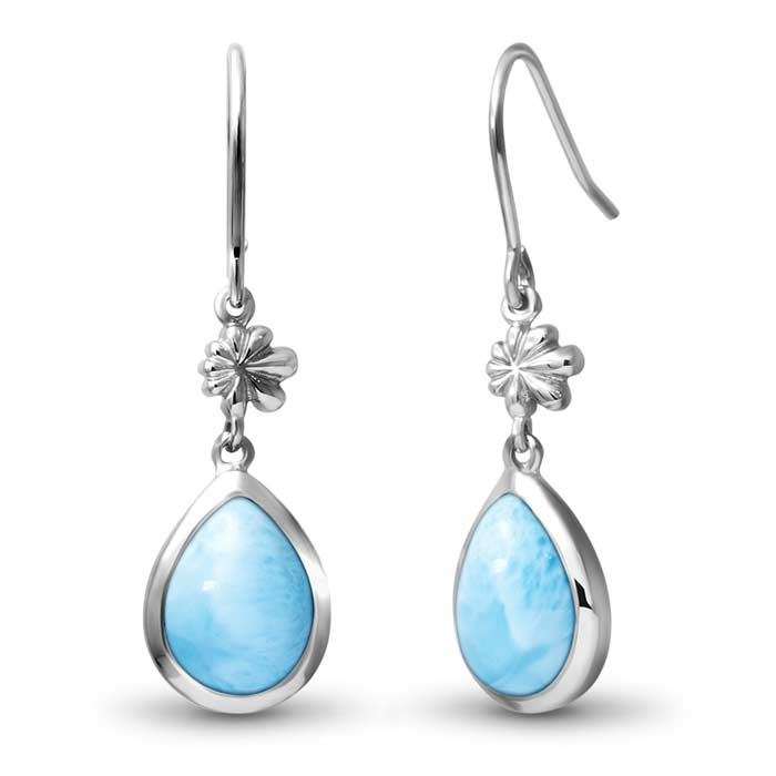 Marahlago Pear Ml Logo Larimar Earrings