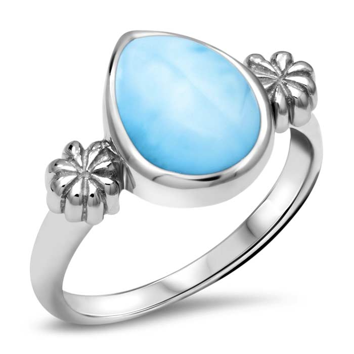 ML Logo Larimar Ring