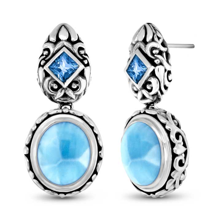 Oceana Larimar Earrings