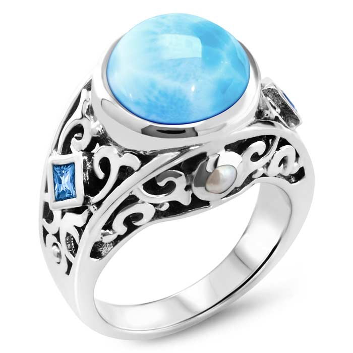 Oceana Larimar Ring