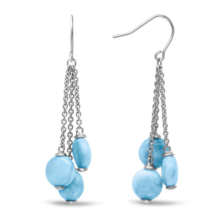 Seafoam Larimar Earrings