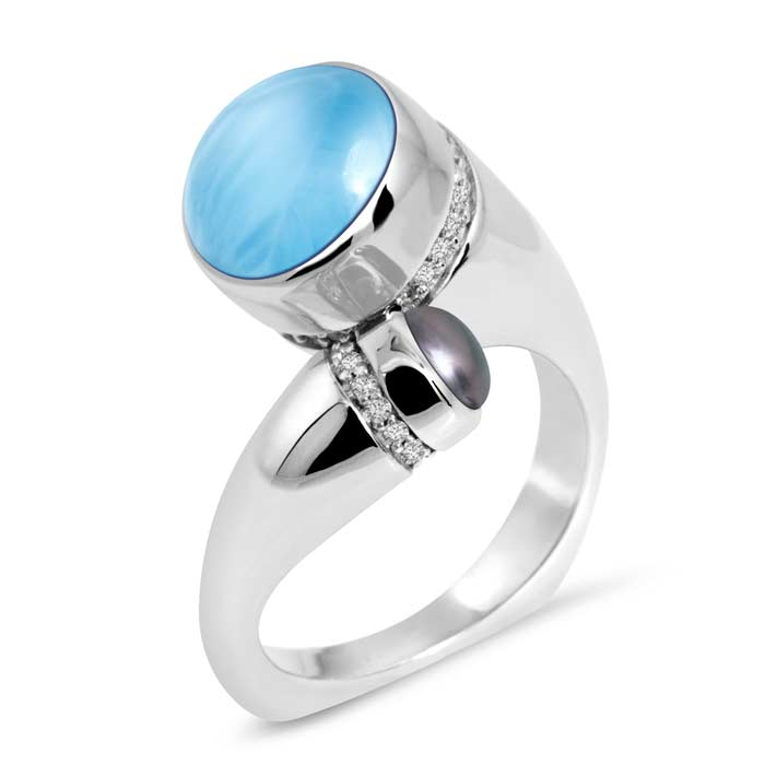 Seascape Larimar Ring