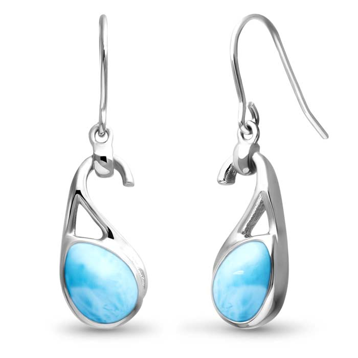 Marahlago Pear Seduction Larimar Earrings