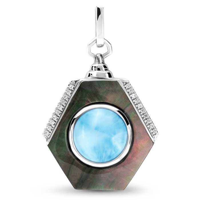 Shadow Larimar Necklace