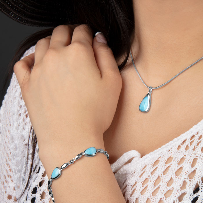 Cheyenne Larimar Necklace