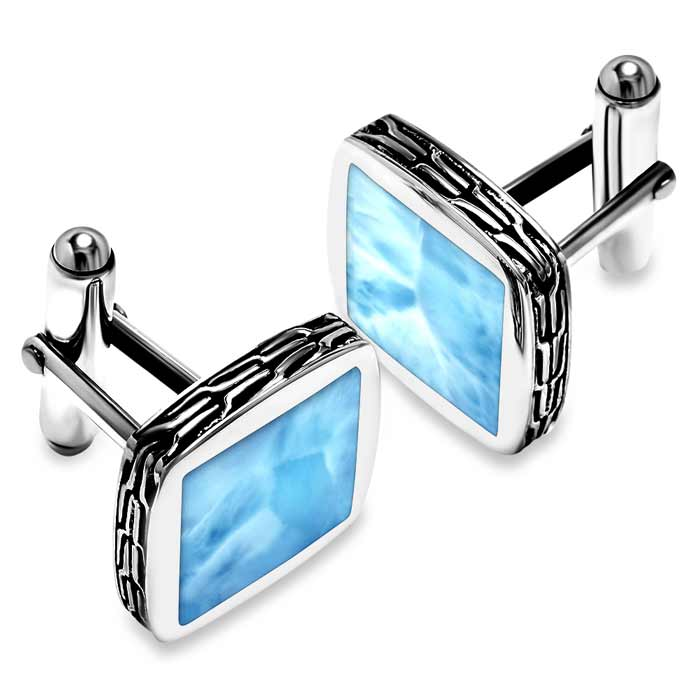 Titan Cuff Larimar Links