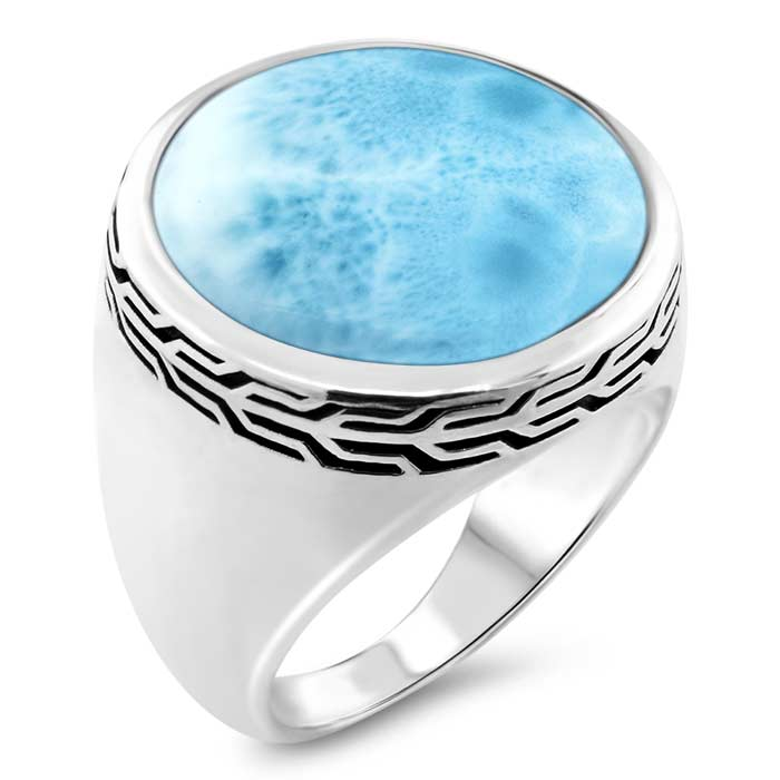 Tonela Mens Larimar Ring