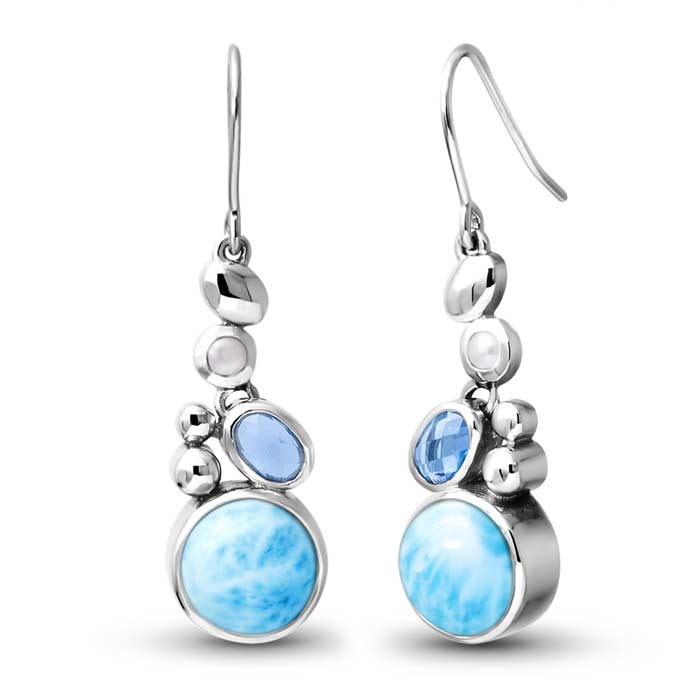 Victoria Larimar Earrings