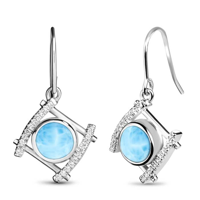 Vixen Larimar Earrings