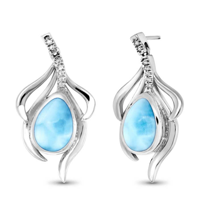 Marahlago Pear Willow Larimar Earring