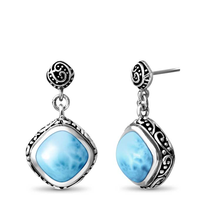 Woodland Larimar Earrings