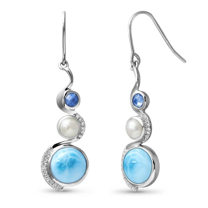 Zen Larimar Earrings