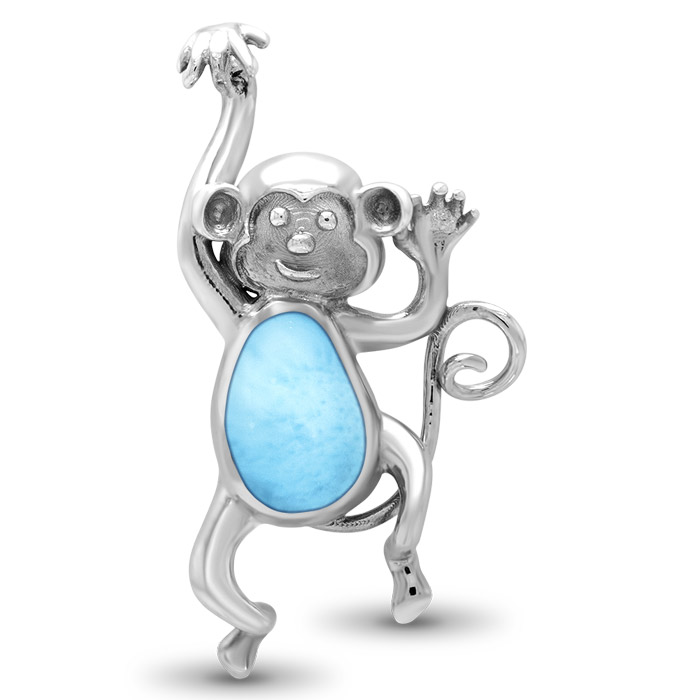 Monkey Larimar Necklace