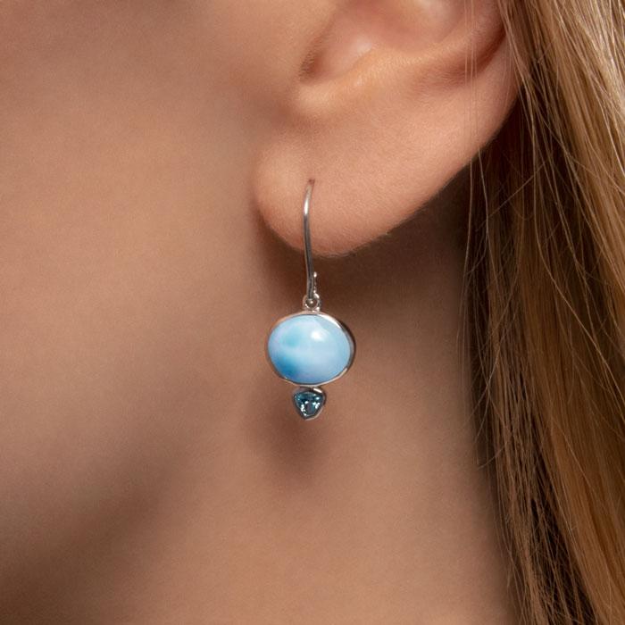Naples Larimar Earrings